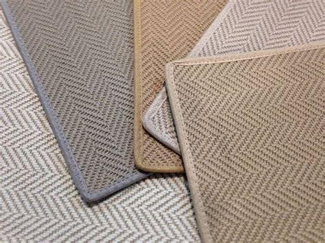 grey patterned stair carpet classic chevron herringbone pattern made of wool jute