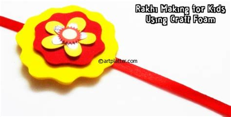 How To Make Handmade Rakhi At Home - rakhi for using craft foam platter