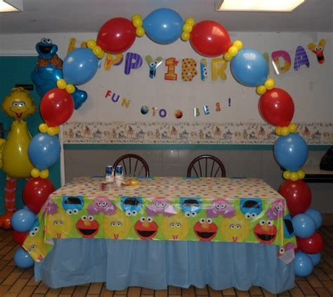 SESAME STREET PARTY   PARTY DECORATIONS BY TERESA