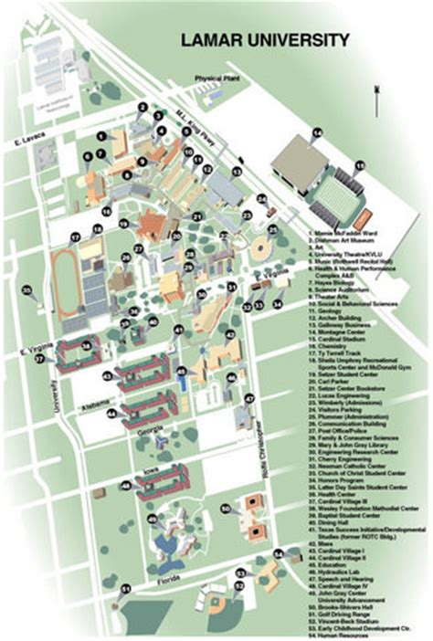 lamar texas map lamar university lu introduction and academics beaumont tx
