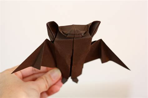 Origami Bat - intermediate origami bat for how about orange