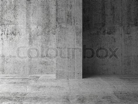 Modern Concrete Home Plans Empty Dark Abstract Concrete Room Interior Fragment 3d