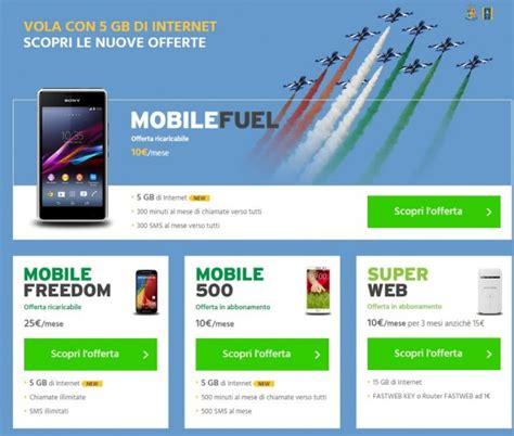 numeri fastweb mobile fastweb mobile offre 5 gb di traffico dati a buon prezzo