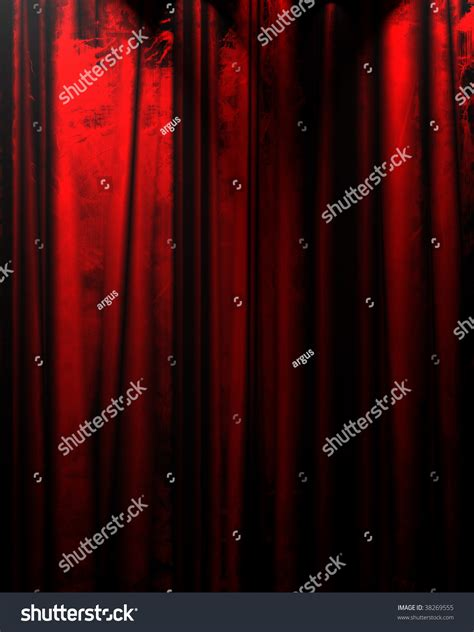 red curtain movies red movie or theater curtain with some folds in it stock