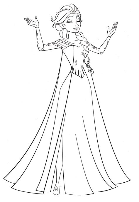 elsa coloring sheet walt disney coloring pages elsa walt disney