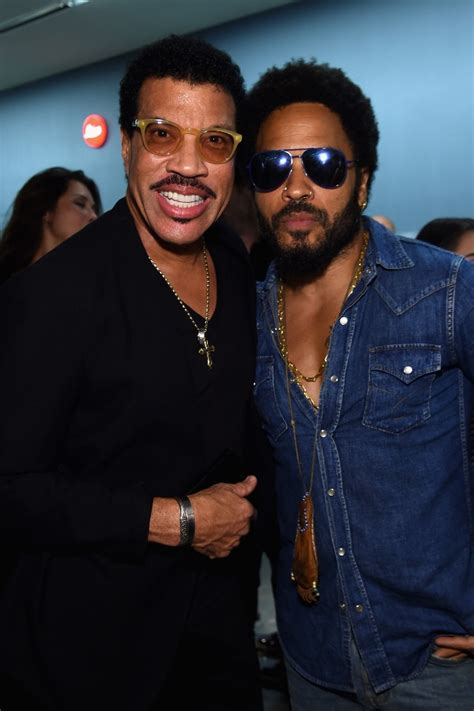 Richie And Mccarthy by Lionel Richie And Lenny Kravitz At Opening Of Flash