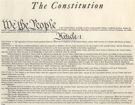 Us Constitution Article 1 Section 10 by American Illiterati The Constitution Of The United States