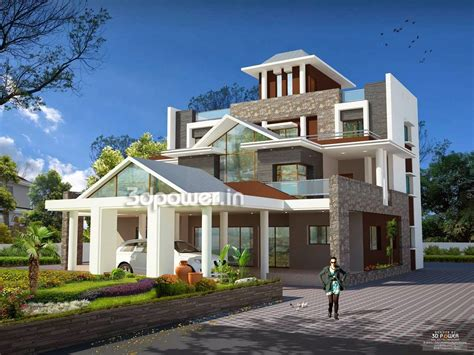 modern house blog house 3d interior exterior design rendering