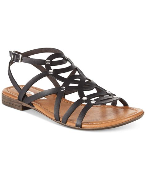 gladiator flat shoes report gamma flat gladiator sandals in black lyst