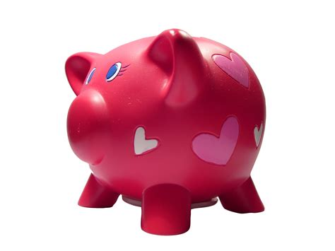 piggy bank in piggy bank reflections in the word