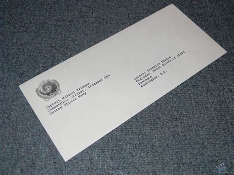 Resignation Letter Envelope Resignation Letter Envelope Unsigned Prop From Seaquest Dsv Tv 1993