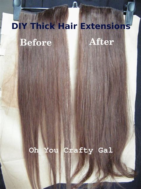 best clip in hair extensions for thick hair oh you crafty gal how to make your clip on hair