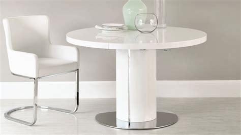 White Gloss Extendable Dining Table White Gloss Extending Dining Table Set