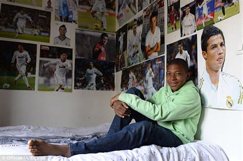 kylian mbappe on cristiano ronaldo kylian mbappe covered walls in cristiano ronaldo pictures