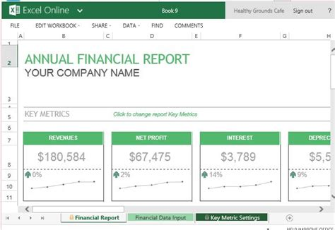 financial reporting templates excel annual financial report template for excel
