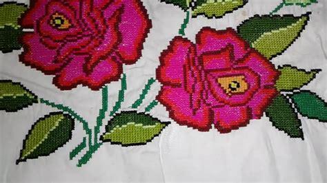 bordados en 3d youtube servilleta bordada a mano ramillete de rosas youtube