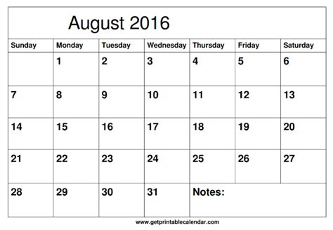 printable calendar 2016 with boxes get printable calendar august 2016 printable calendar
