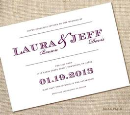 simple wedding invitation wording theruntime