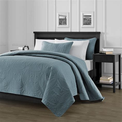 Blue Coverlet King Chezmoi Collection 3 Oversized Bedspread