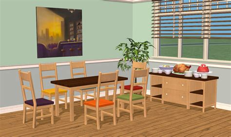 Study Table Design For Bedroom by Mod The Sims Smallhouse Models Dining Room Set