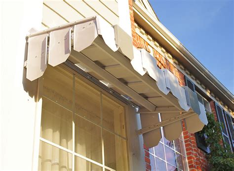 brookside window awning with flat side panels