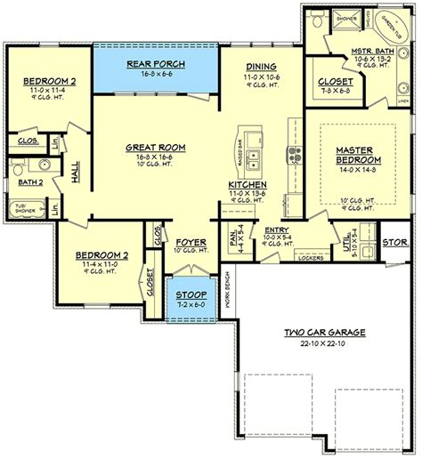House Plans With Large Pantry by Large And Open Floor Plan 11765hz 1st Floor Master