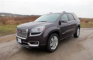 suv review 2015 gmc acadia denali driving