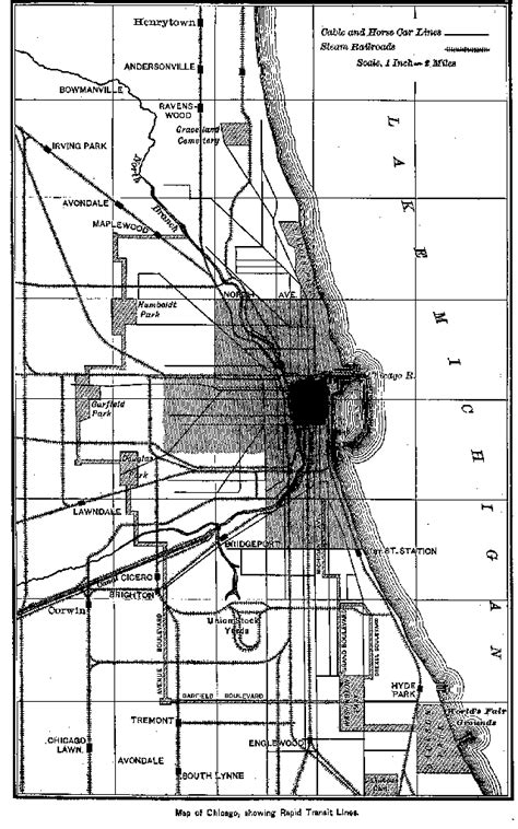 chicago map black and white why does the brown line stop west at kimball chicago