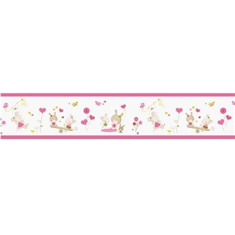 bordure kinderzimmer pink bord 252 re maus rosa bei oli niki kaufen