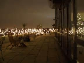 gorgeous lit balcony with christmas lights christmas lights