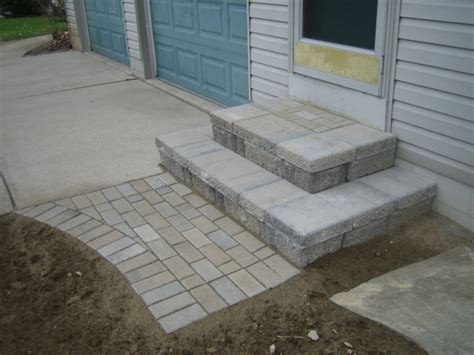 Made Out Of Pavers building front door steps