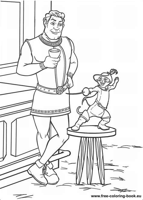 coloring pages shrek page 1 printable coloring pages