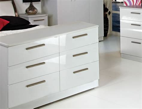 white high gloss 6 drawer chest queen 6 drawer wide white high gloss chest assembled