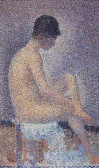 seated model side view 1887 georges seurat oil posts similar to anne marie zilberman quot com 232 te quot comet