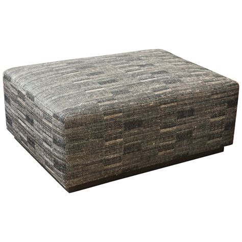 Ottoman Covered With Hand Woven Indian Fabric At 1stdibs