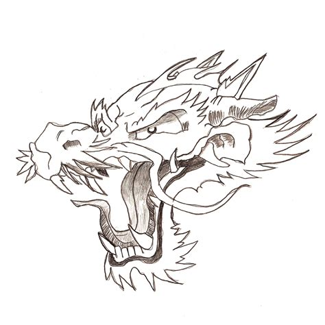 japanese dragon head for tattoo by flegmaucigasa on deviantart
