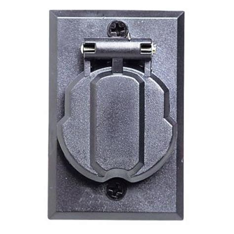home depot l post outlet design house black replacement electrical outlet for l