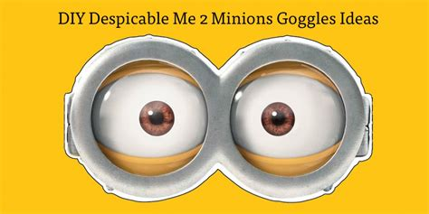 quick halloween party costume ideas minion s goggles easy