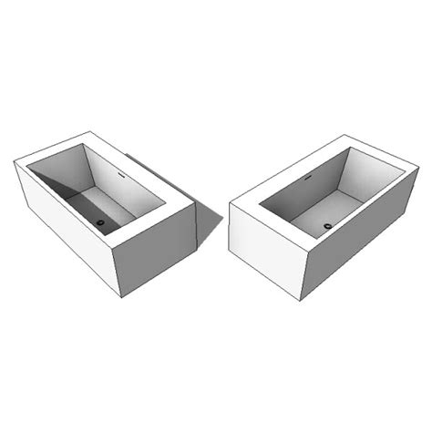 bathtub revit wetstyle cube collection bc02 bathtub 10057 2 00
