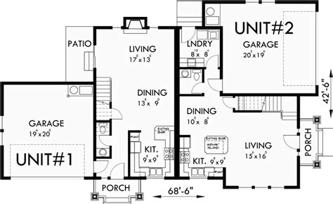 corner lot duplex plans duplex house plans corner lot duplex house plans d 548