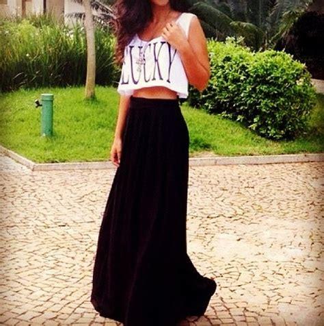 crop top maxi skirt s t y l e summer