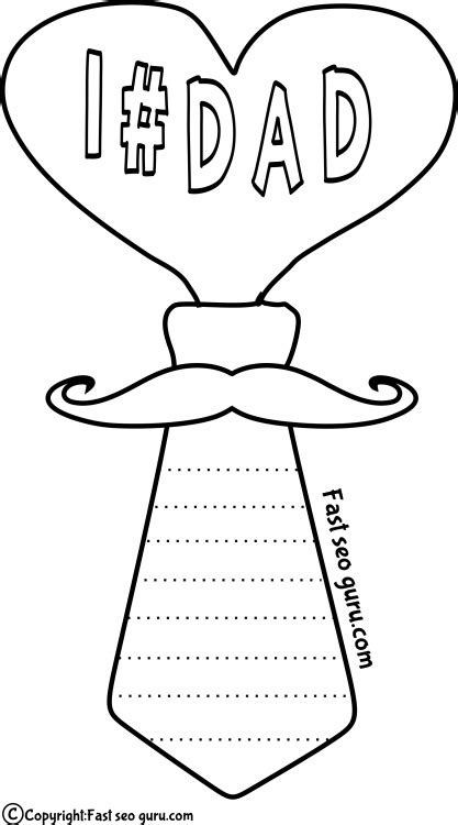 s day card templates for kindergarten printable coloring page