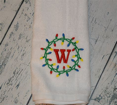 personalized lights towel