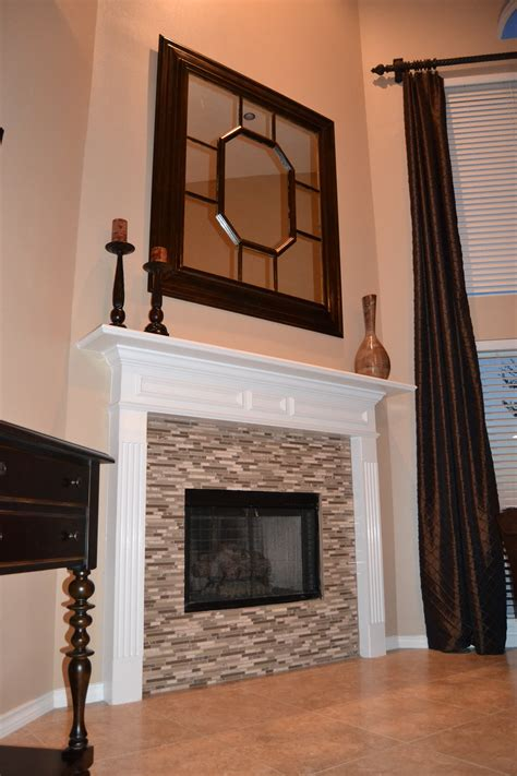 Glass Mosaic Fireplace Surround by Glass Mosaic Tile Fireplace With The P S