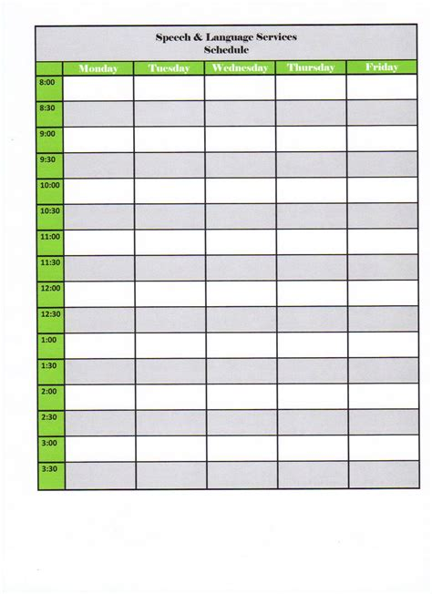 weekly class schedule template blank work schedule new calendar template site