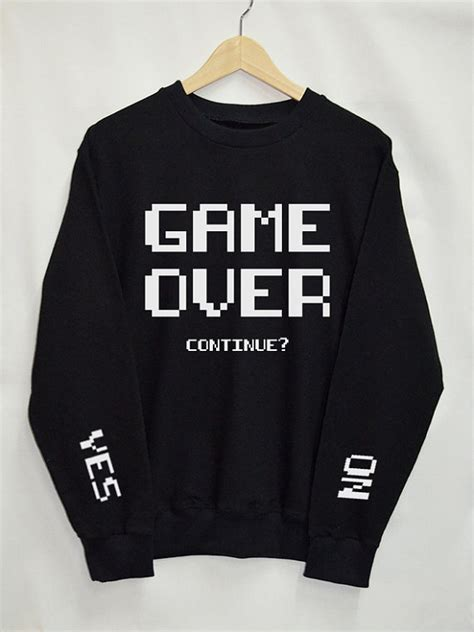 hoodie design tumblr game over shirt sweatshirt clothing sweater top tumblr fashion