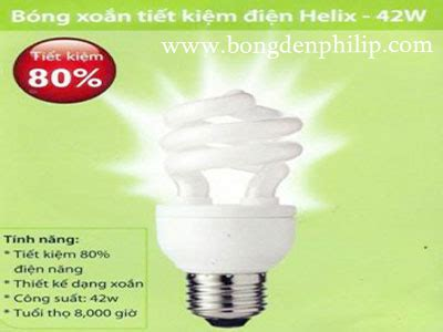 Lu Philips Helix 42 Watt b 243 ng 苟 232 n compact philips xo蘯ッn helix 42w