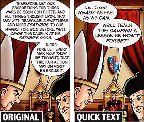 3 Second King Stripe shakespeare dumbed in comic strips for bored pupils