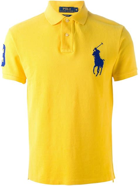 Polo Shirt Cressida 3 lyst polo ralph embroidered logo polo shirt in yellow for