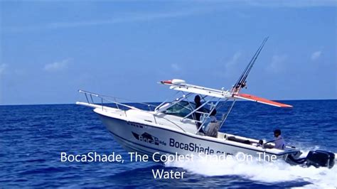 how to make a boat awning bocashade retractable boat awning youtube